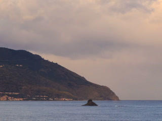 Cape. Coast of Sicily. Italy, Time Lapse. 320x240 Footage