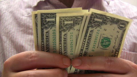 Earning Money stock footage