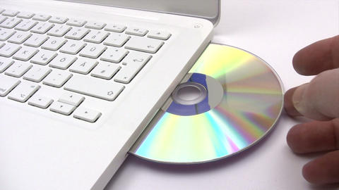Loading a CD Footage