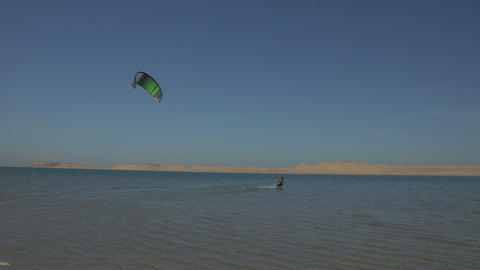 Western Sahara Kite Surfing 1 - FT0029 Footage