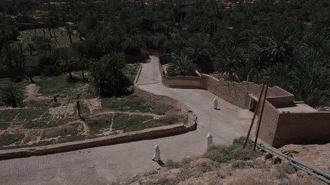 Figuig Morocco Women in Burqas Walking - FT0033 Footage