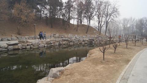 China Beijing Park Yuanmingyuan 16 Footage