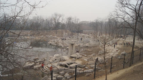 China Beijing Park Yuanmingyuan 19 Footage
