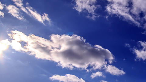 Bright clouds in the sky. Time Lapse. 1280x720 Footage