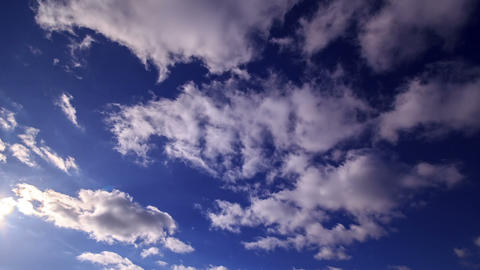 Clouds on a clear sky. Time Lapse. 1280x720 Footage