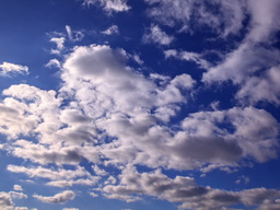 Blue sky with clouds. Time Lapse. 640x480 Footage
