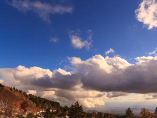 Clouds over the valley. Time Lapse. 320x240 Footage