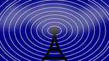graphical antenna and radio waves CG動画素材