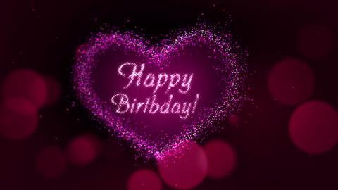 Happy Birthday Heart Animation