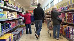 Supermarket Shopping 1 stock footage