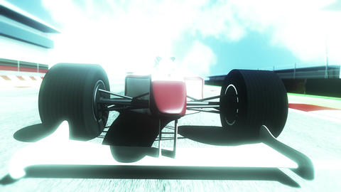 Formula 1 Car on Race Track v5 5 Animation