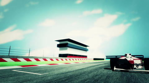 Formula 1 Car on Race Track v6 6 Animation