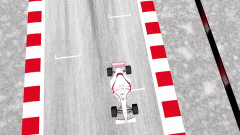 Formula 1 Car on Race Track v2 2 Animation