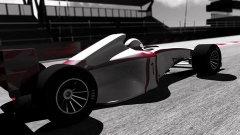 Formula 1 Car on Race Track v3 4 Animation
