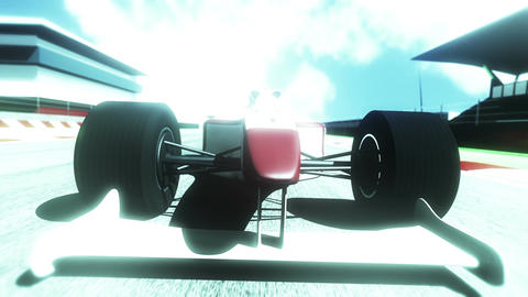Formula 1 Car on Race Track v5 6 Animation