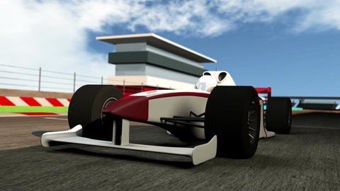 Formula 1 Car On Race Track V1 2 stock footage