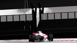 Formula 1 Car on Race Track v4 3 Animation