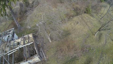 Abandoned Cottage stock footage