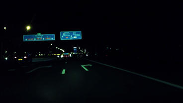 highway drive midnight Footage