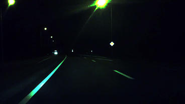 Highway Drive Midnight stock footage