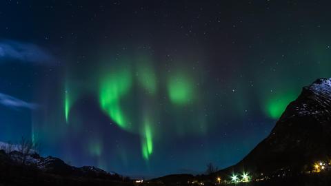 Polarlichter auf den Lofoten Footage