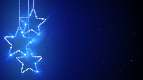 blue hanging stars loop background Animation