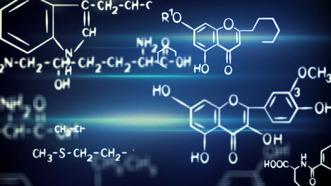 Flying Chemical Formulas Loop stock footage