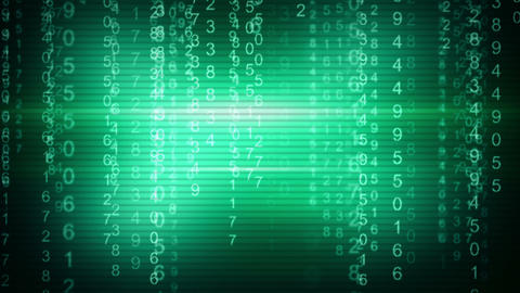 Green Digital Matrix Style Loop Background stock footage