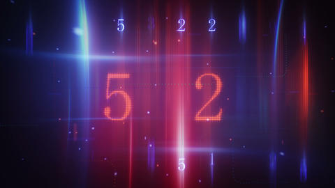 Twitching Glowing Numerals Loopable Background stock footage