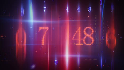 twitching glowing numerals loopable background Stock Video Footage