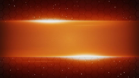 Orange Futuristic Title Plate Loopable Background stock footage