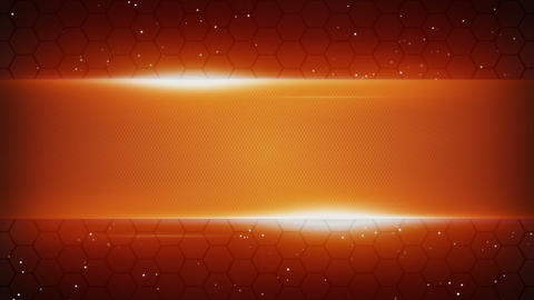 orange futuristic title plate loopable background Stock Video Footage