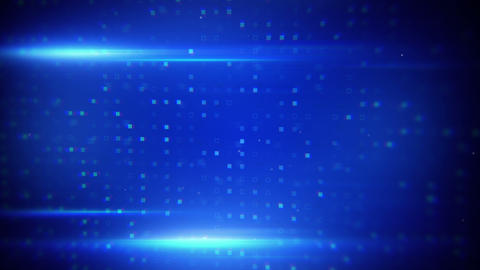 blue light flares and beaming squares loopable bac Animation