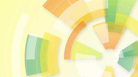 colorful circular segments loop background Animation