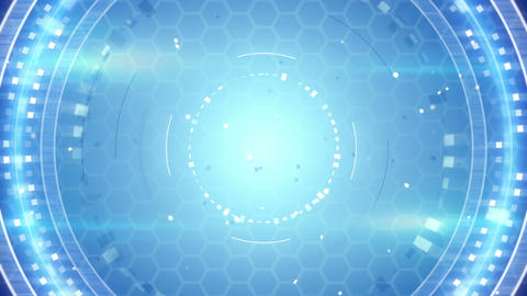 blue techno abstract loopable background Animation