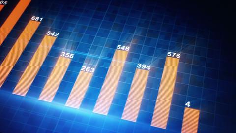 modern business graph chart seamless loop animatio Animation