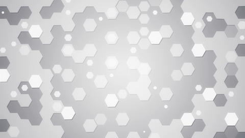 white hexagons loopable background Animation