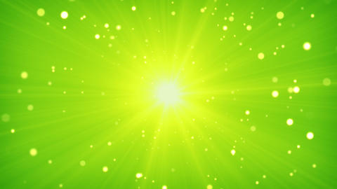green yellow light and particles loop background Animation