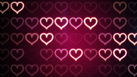 flashing heart shapes loopable romantic background Animation