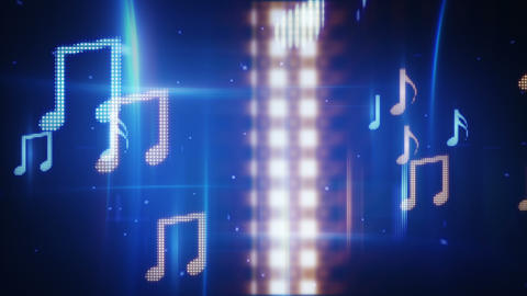 Twitching Musical Notes Loopable Background stock footage
