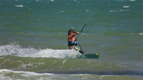 Kite Surfer stock footage