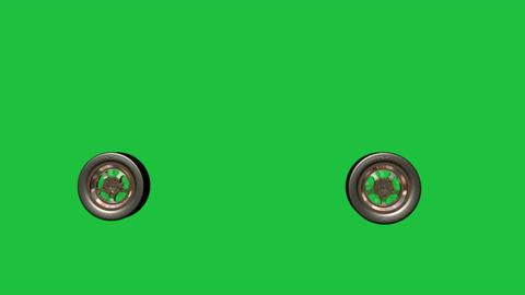 Spinning Racing Wheels: Loop + Matte Animation