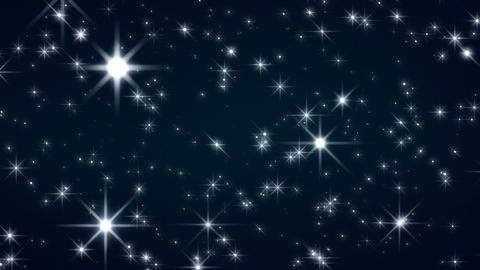 Starflight 1 25fps - Moving Stars And Christmas Video Background Loop Animation
