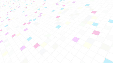 Square Cell Grid light background Bw 2 4k Animation