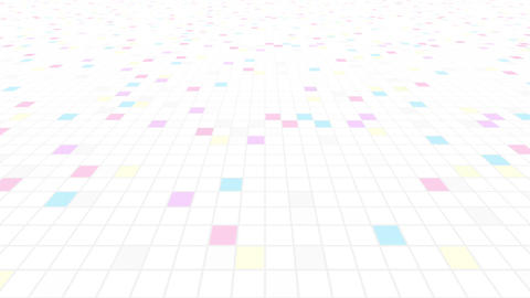 Square Cell Grid Light Background Cw 2 4k stock footage