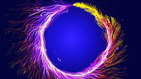 Magic Particles Ring HD Animation