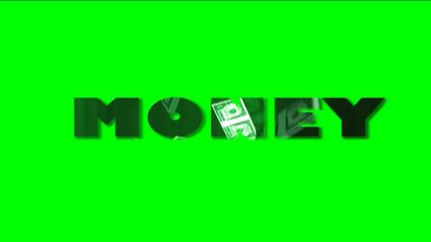 Money Green Screen HD Animation