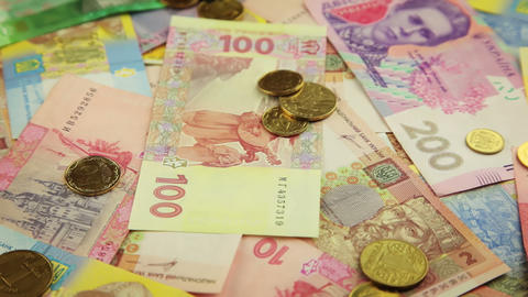 Ukrainian Money Footage