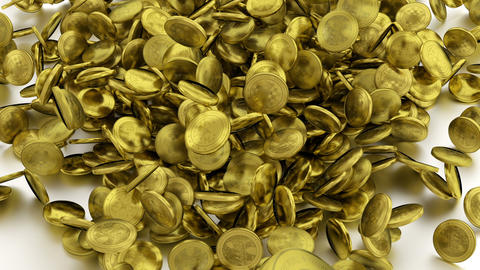 Falling Down Gold Coins stock footage