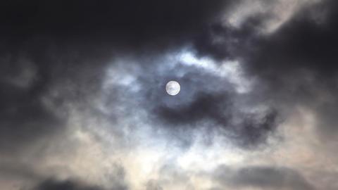 Sun behind overcast cloud Footage